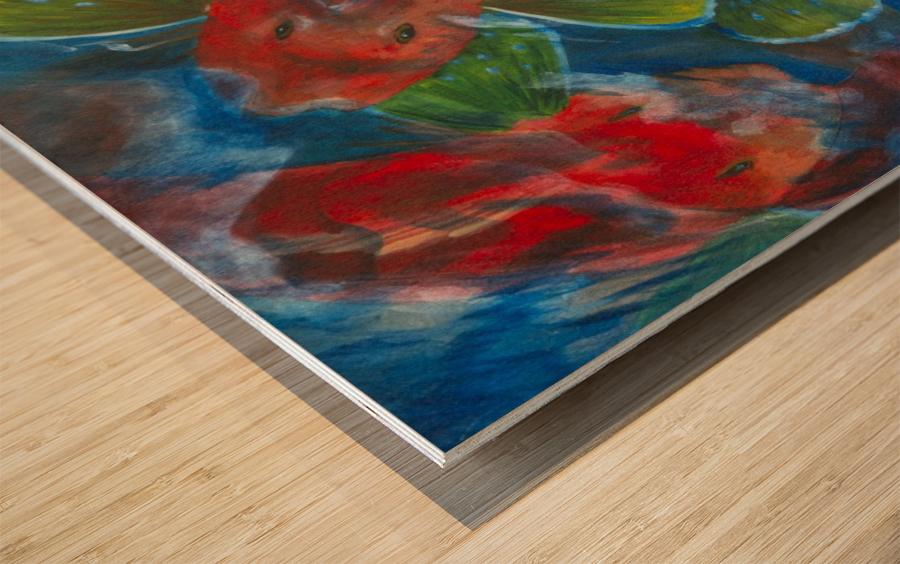 Sea Robins Wood print