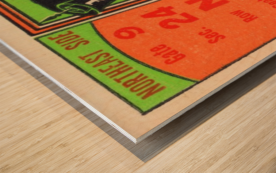1950 tulane lsu tigers college football ticket sports art gifts baton rouge la Wood print