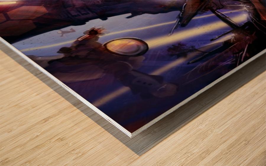 Lights On - Alien Megastructure Rama V Wood print
