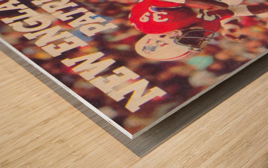 1979 New England Patriots Retro Football Poster Wood print