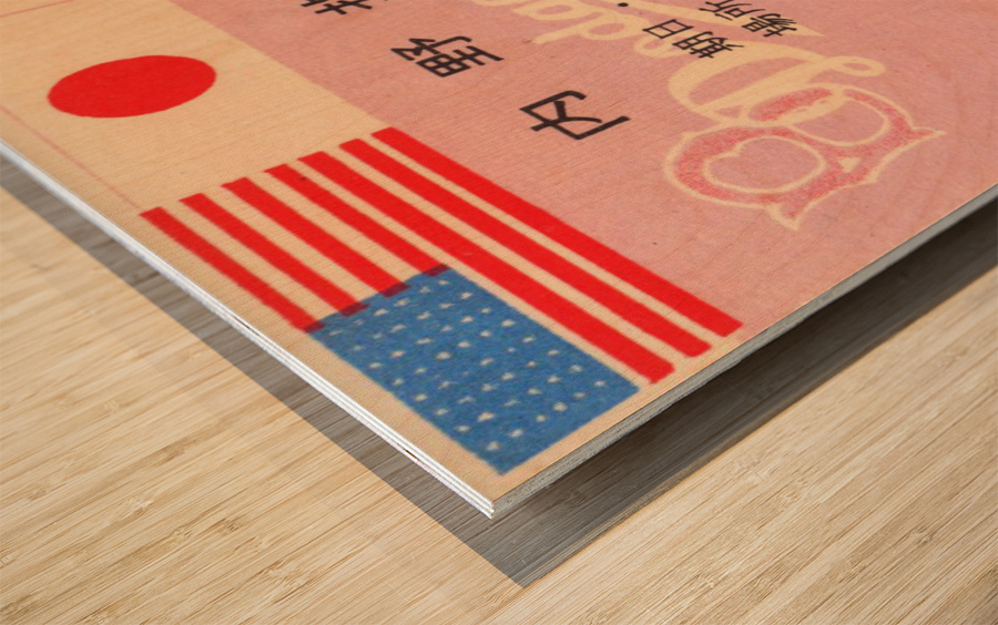 1956 brooklyn dodgers tour of japan baseball ticket stub canvas sports art Wood print