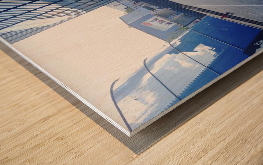 landspace Wood print