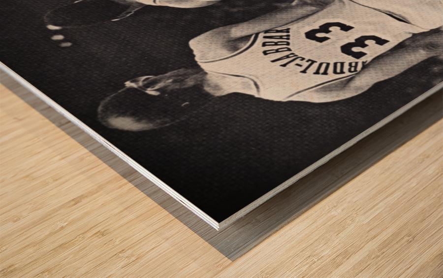 1984 Magic Johnson & Kareem Poster Wood print