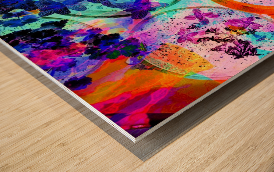 Psychedelic Herbs Wood print
