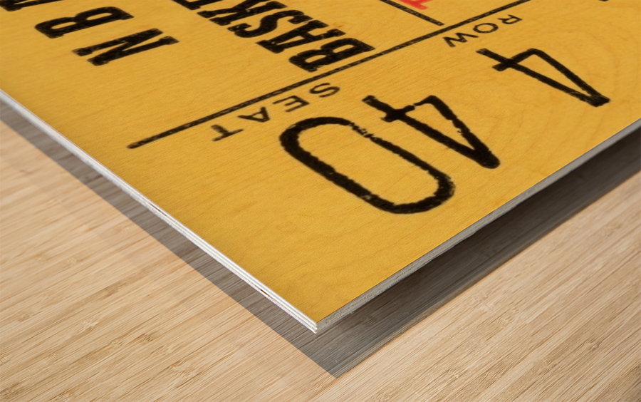 1967 Chicago Bulls 1st Season Ticket Art Wood print