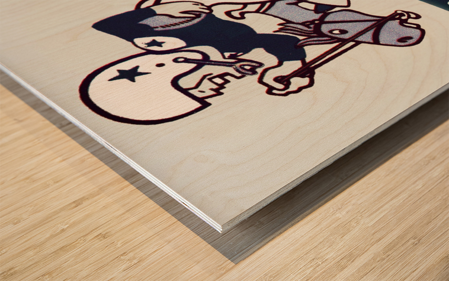 1960s dallas cowboys art Wood print