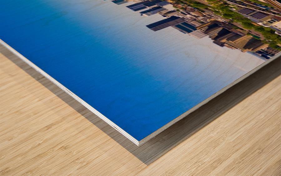 Atlanta GA  Panoramic Skyline 0618 Wood print