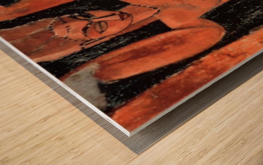 Modigliani - Caryatid -3- Wood print