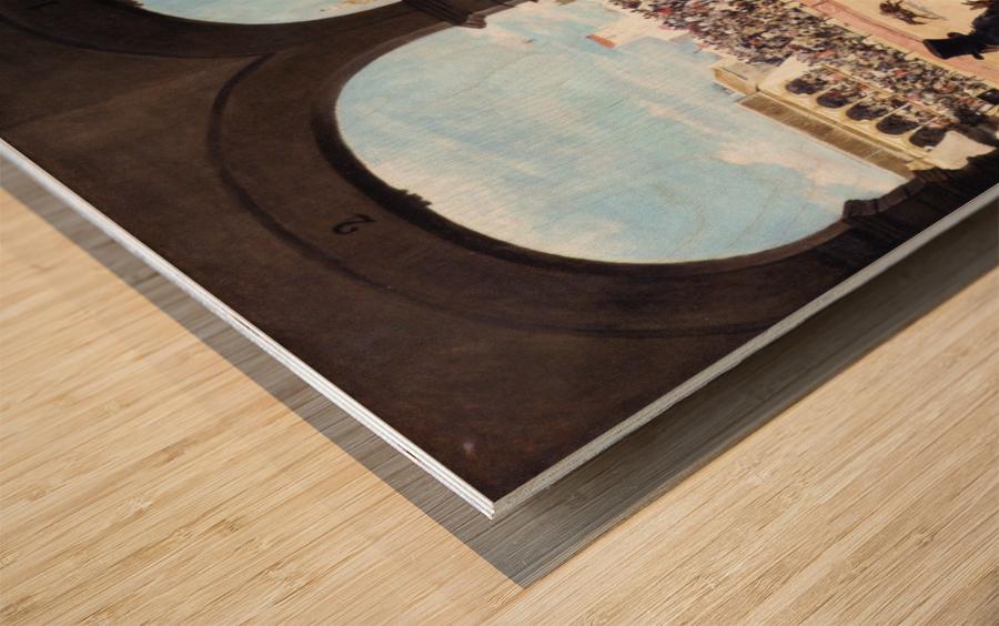 Un lance en la plaza de toros Wood print