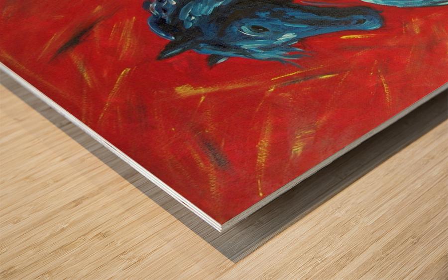 red horse Wood print