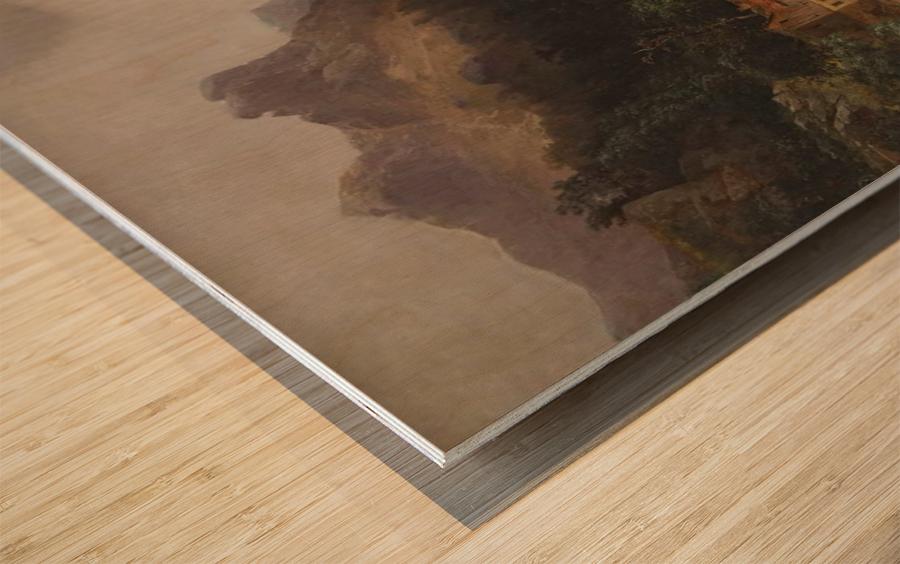 Gebirgslandschaft mit Muhle Wood print