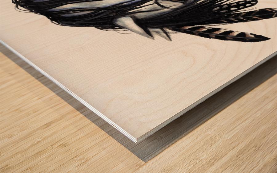 Grey Horse Wood print
