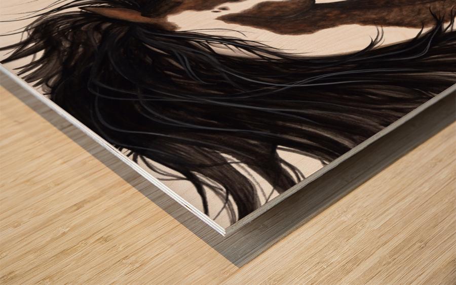 Pinto Horse Wood print