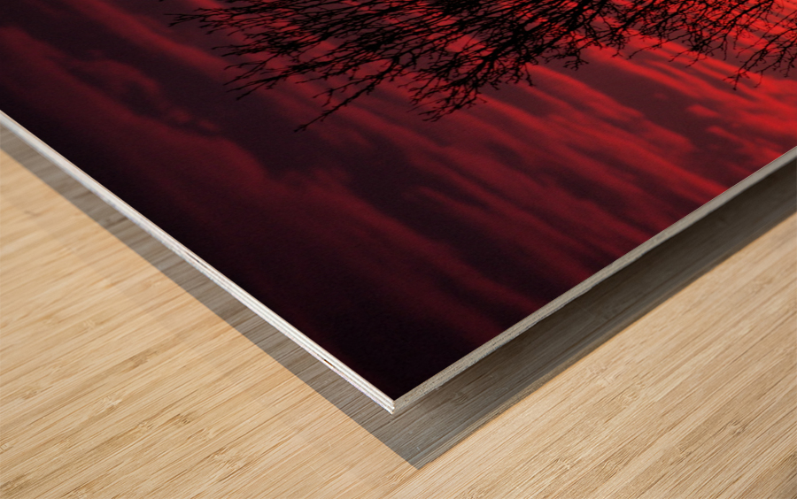 Liberty Missouri Sunset  Wood print
