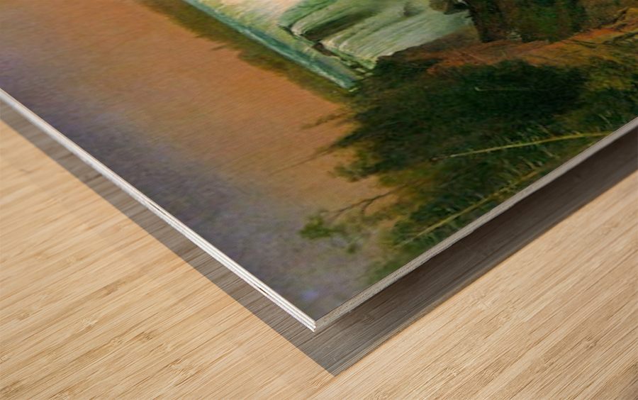 Niagra Falls by Bierstadt Wood print