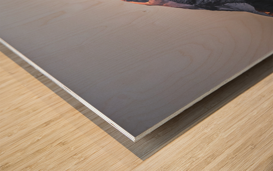 Awakening of the mountain Wood print