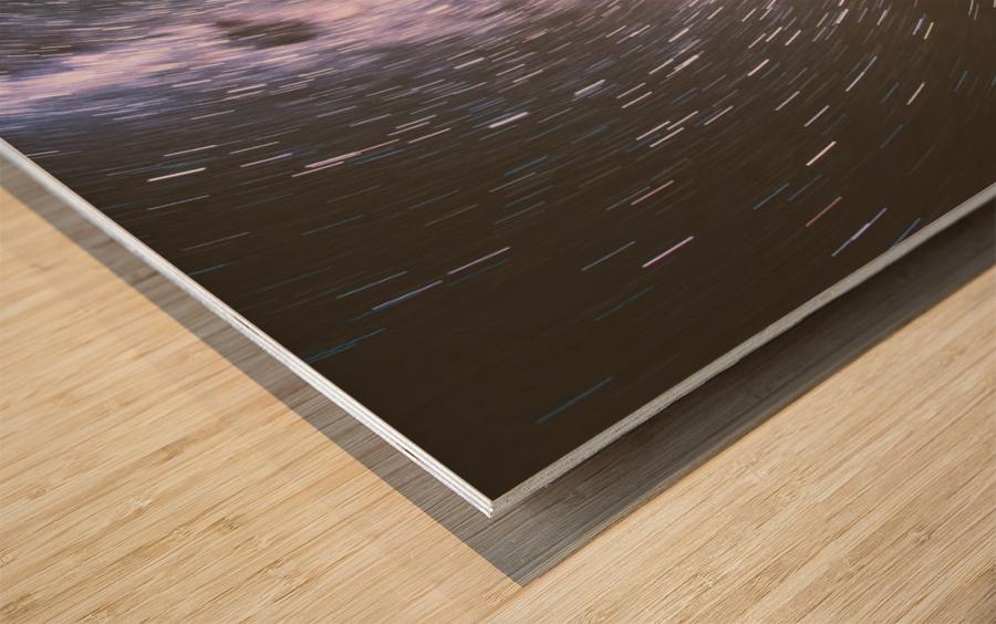 Spin of stars Wood print