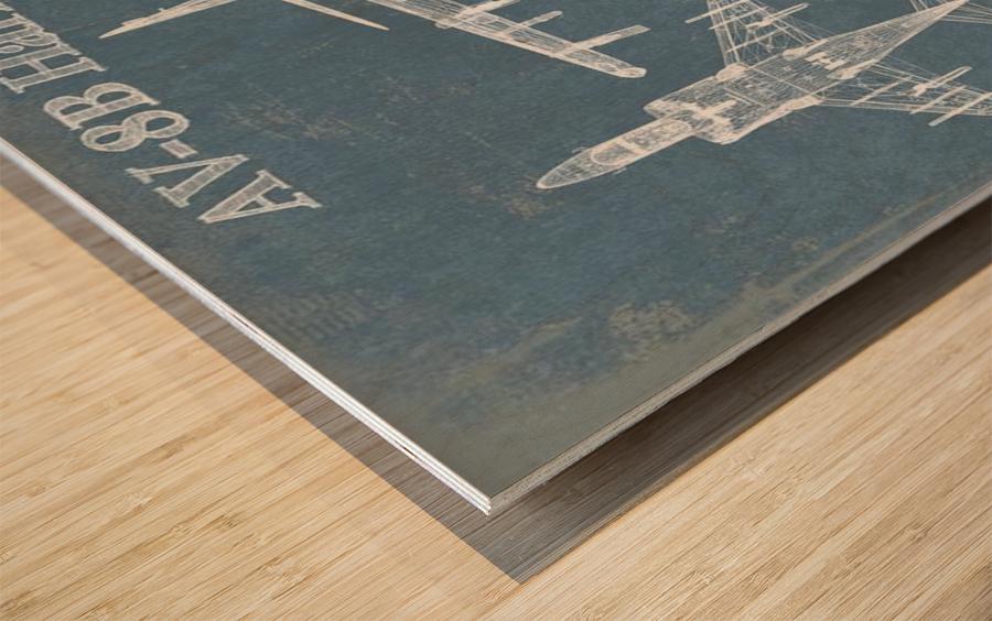 harrierII Wood print