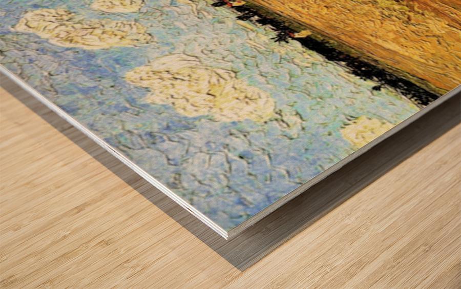 Ploughed Field by Van Gogh Wood print