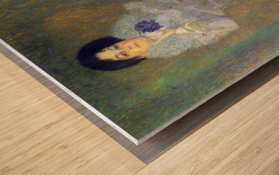 Portrait of Marie Henneberg (portrait in purple) by Klimt Wood print
