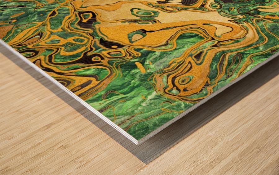 Marble XXXVIII Wood print