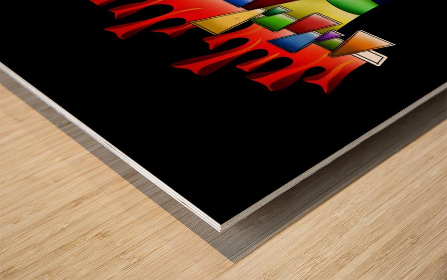 Grafenonci V4 Wood print