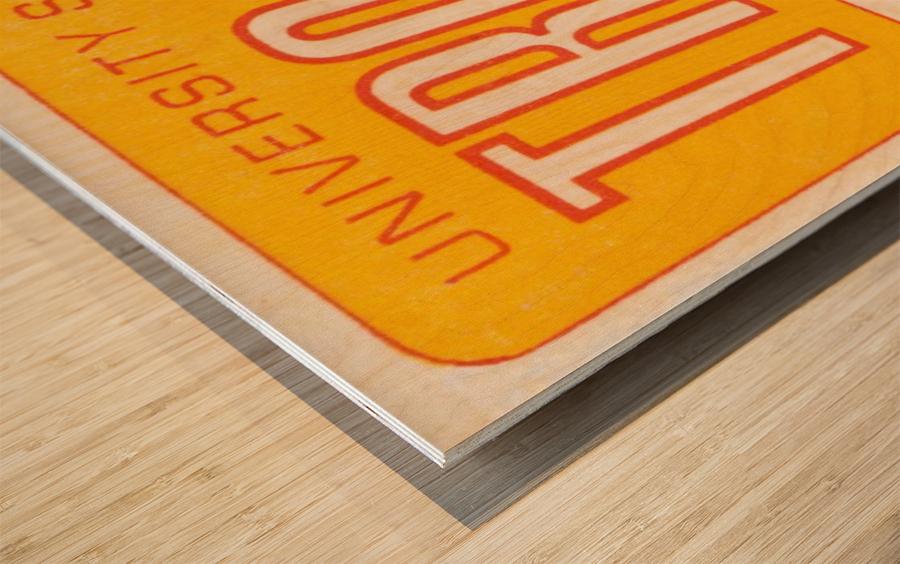 1968 USC Trojans Season Ticket Wood print