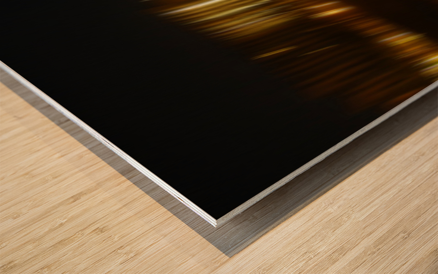 Lights Wood print
