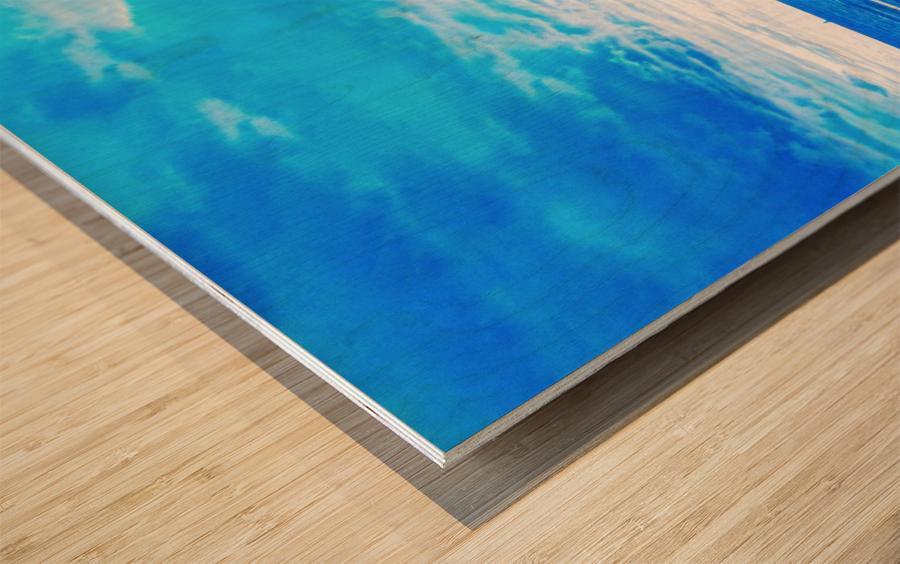 Blue World Wood print