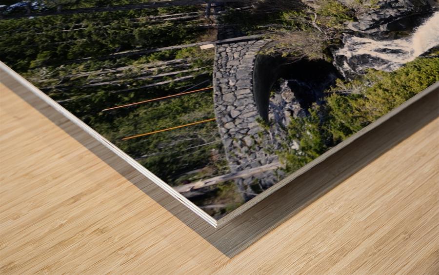 From Bridge to Stream Wood print