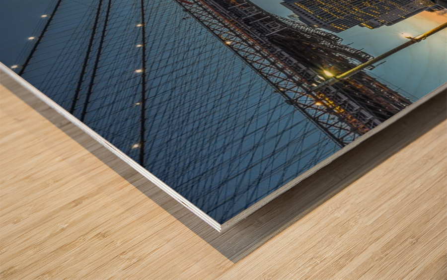 New York - Blue Hour over Manhattan Wood print