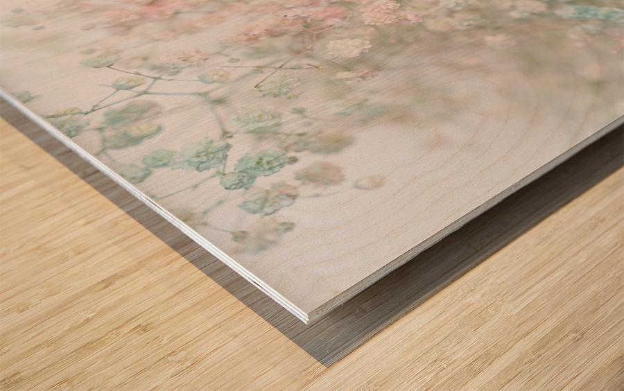 Daltana Pastel Floral Aera Wood print