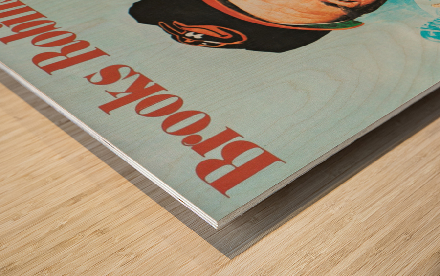 1974 Brooks Robinson Poster Wood print