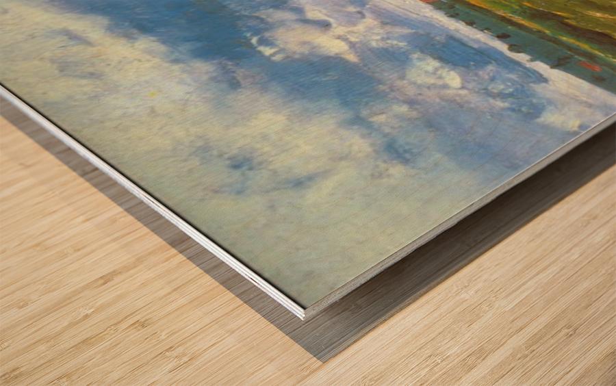 Stacks by Van Gogh Wood print