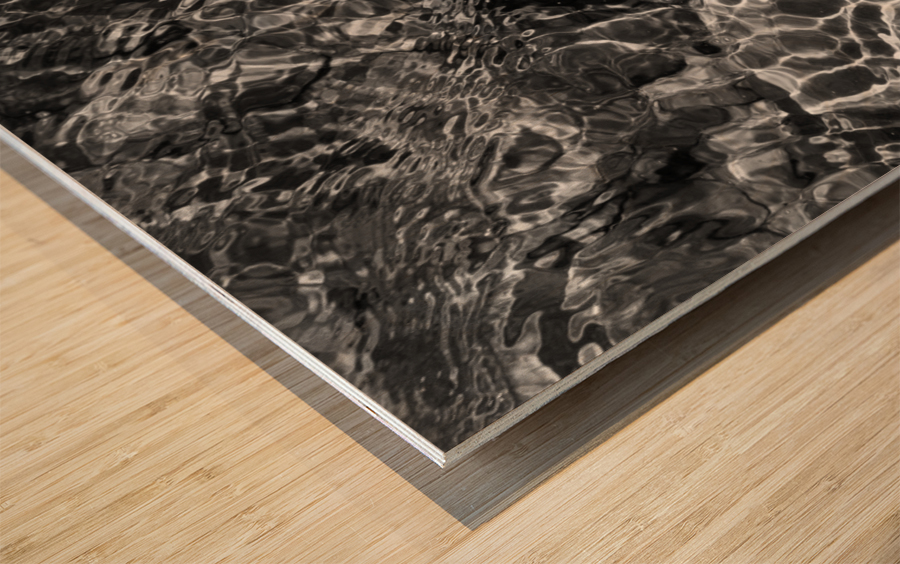 Water Colors ap 1776 B&W Wood print