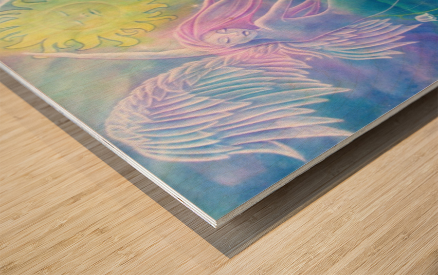Gemini Angels Wood print