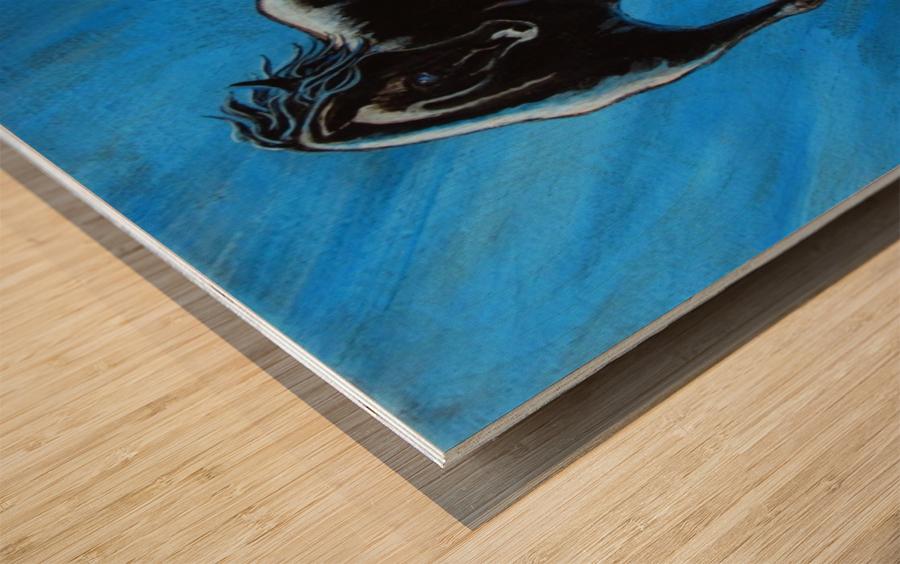 Midnight Blue  Wood print