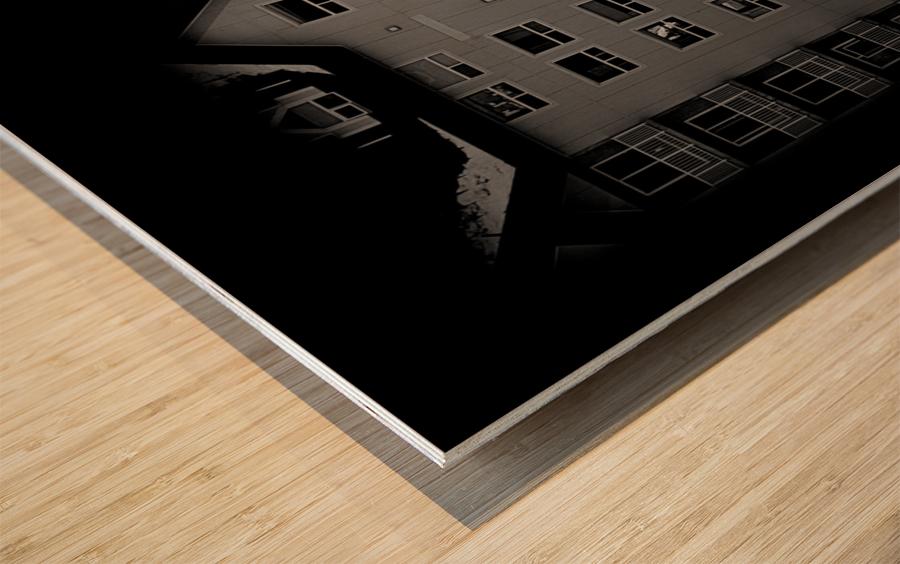 Building and Bridge Wood print