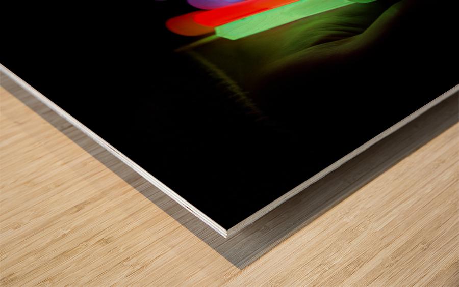 Lightstick Wood print
