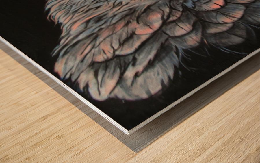 Insomniac Wood print