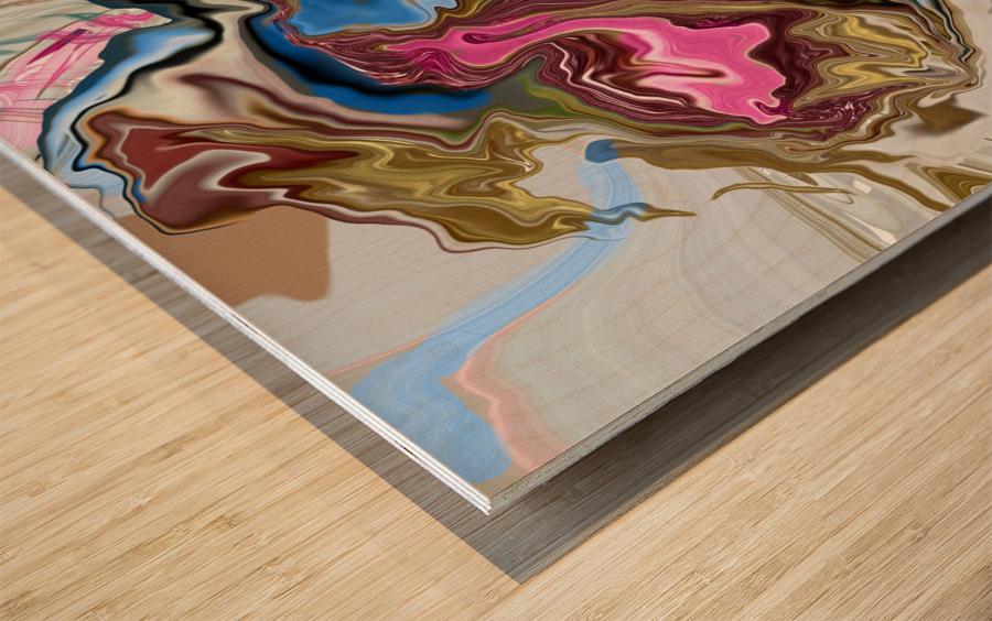 bluepour Wood print
