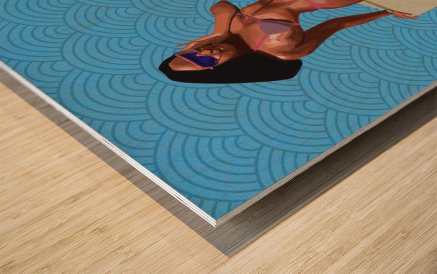 Sunbather Wood print