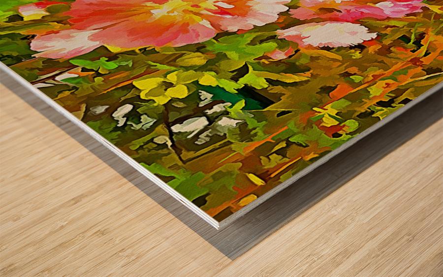 Penstemon Pop Art Style Wood print