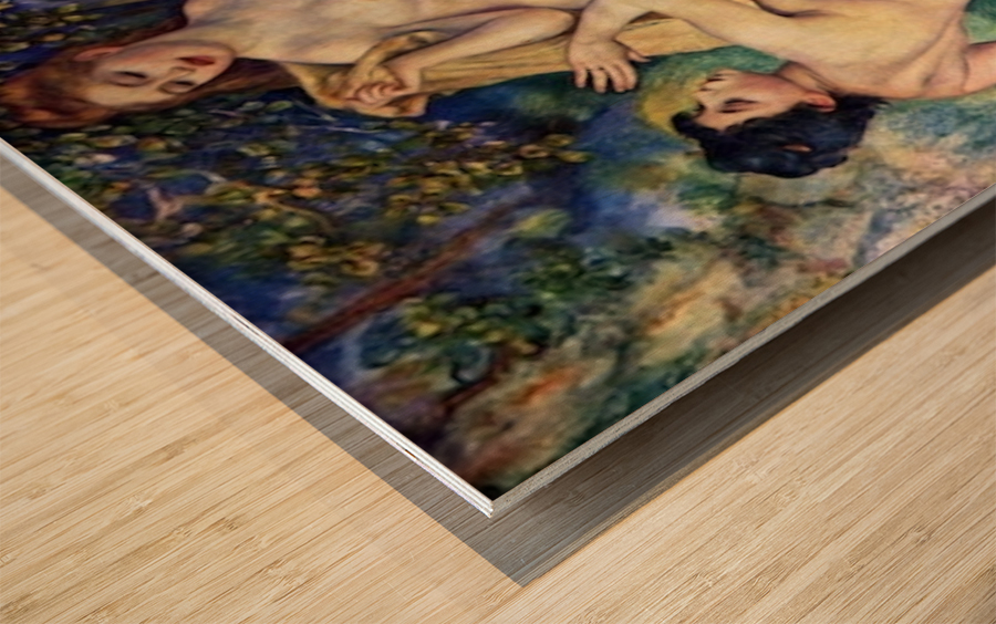 The Large Bathers by Renoir Wood print