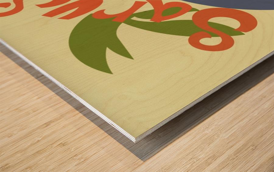 The Sarus Crane Wood print