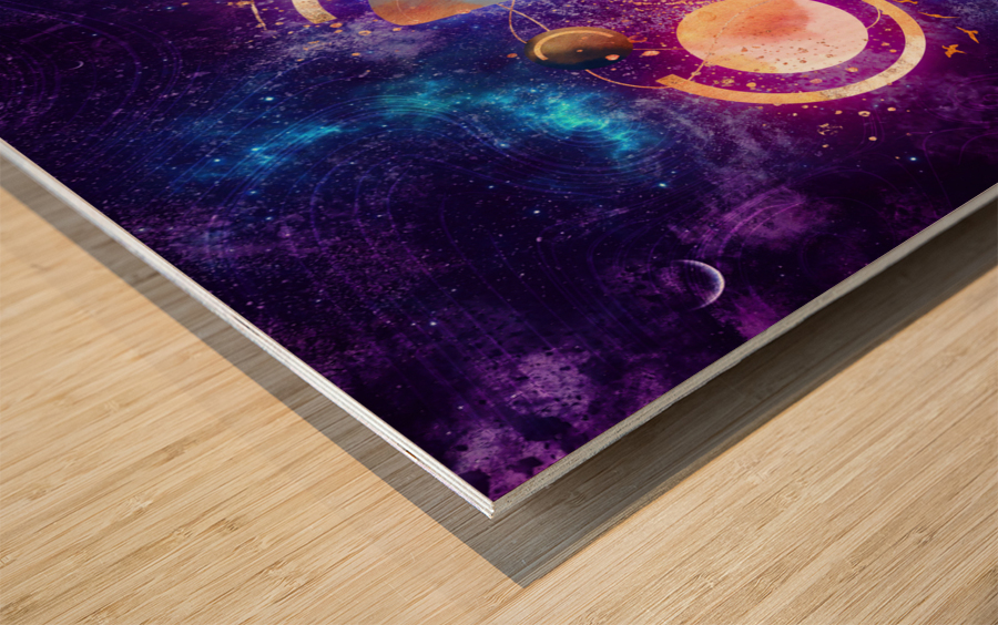 Dream Art XVIII - Cosmic World Wood print