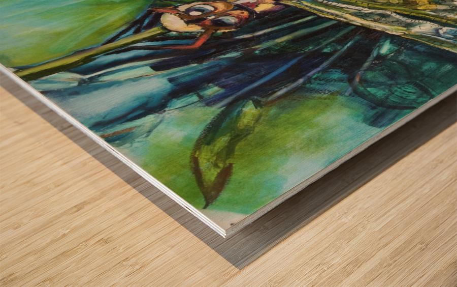 Louisiana Dragonfly Wood print