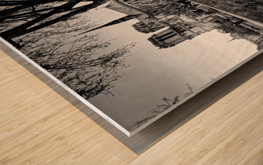 Seine river flood Impression sur bois