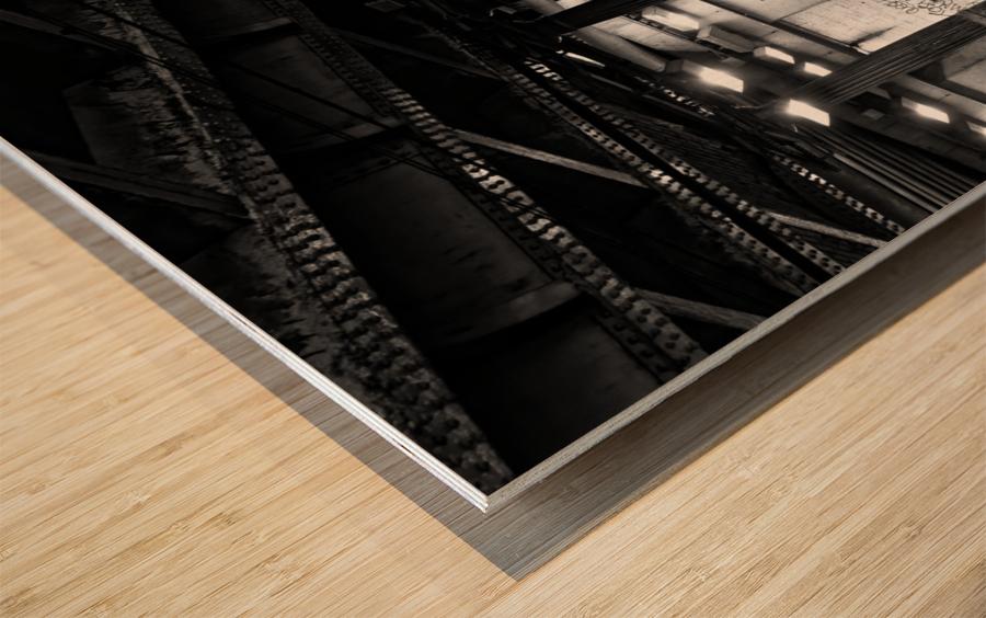 Brancion tunnel Impression sur bois