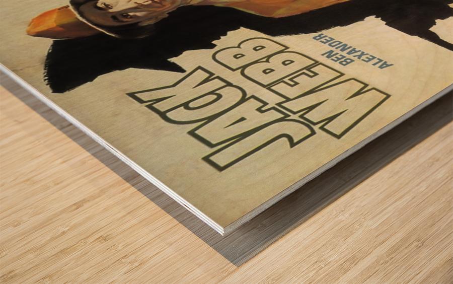 Film Noir Poster - Dragnet Wood print